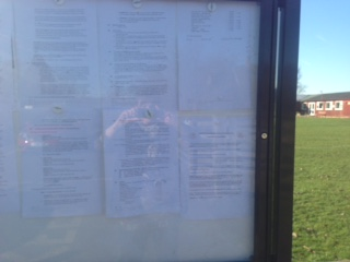 Notice board evidence of Consultation